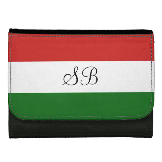 The flag of Hungary Leather Wallet For Women