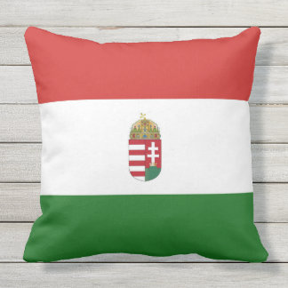 The flag of Hungary Outdoor Pillow