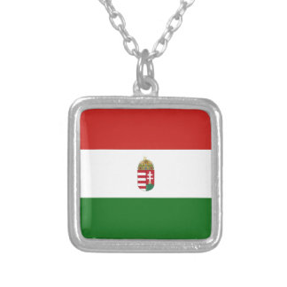 The flag of Hungary Silver Plated Necklace