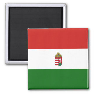 The flag of Hungary Square Magnet