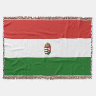 The flag of Hungary Throw Blanket