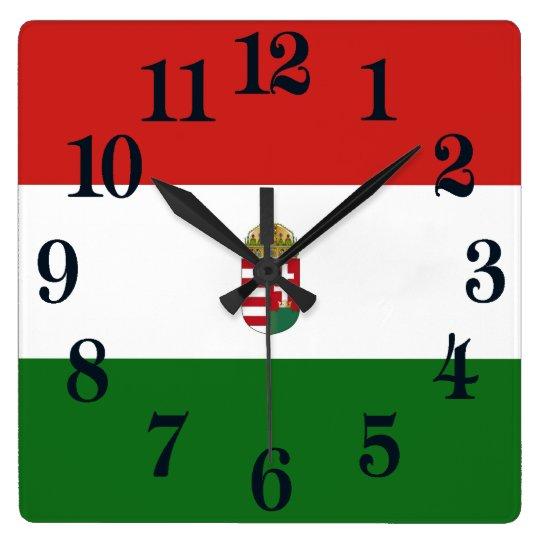 The flag of Hungary Wallclocks