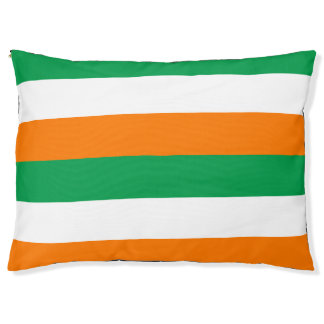 The Flag of Ireland Colors Large Outdoor Dog Bed Large Dog Bed