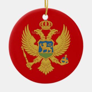 The Flag of Montenegro Ceramic Ornament