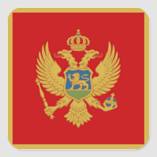 The Flag of Montenegro Square Sticker