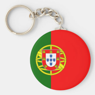 The Flag of Portugal (Bandeira de Portugal) Basic Round Button Keychain