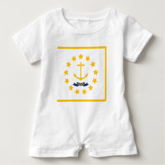 The flag of Rhode Island. Baby Romper