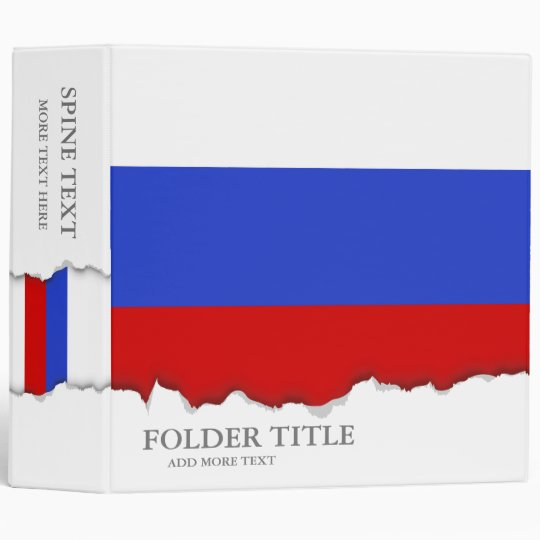 The Flag of Russian Binder