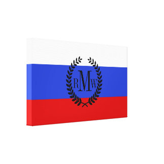 The Flag of Russian Canvas Print