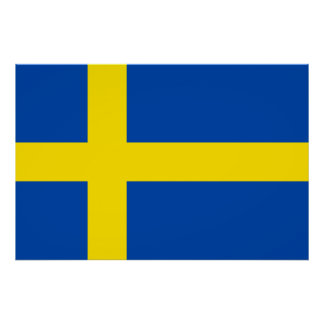 The Flag of Sweden Poster