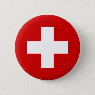 The Flag of Switzerland 2 Inch Round Button