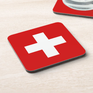 The Flag of Switzerland Coasters