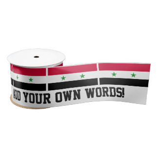 The Flag of Syria Satin Ribbon