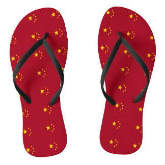 The flag of the People's Republic of China Flip Flops