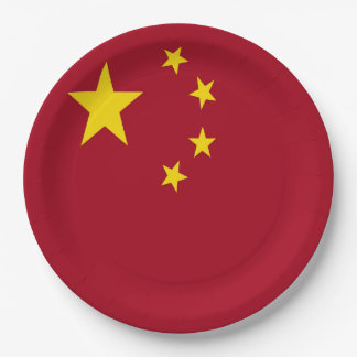 The flag of the People's Republic of China Paper Plate