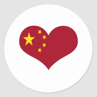 The flag of the Republic of China Classic Round Sticker