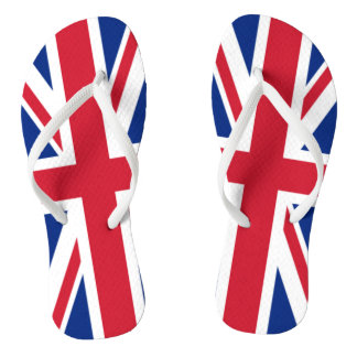 The Flag of the United Kingdom Flip Flops