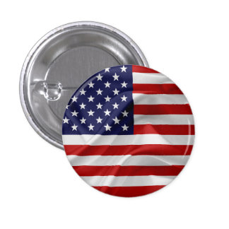 The Flag of the United States of America 1 Inch Round Button