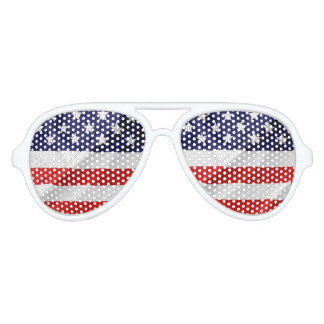 The Flag of the United States of America Aviator Sunglasses