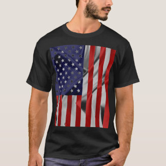 The Flag of the United States of America Black T-Shirt