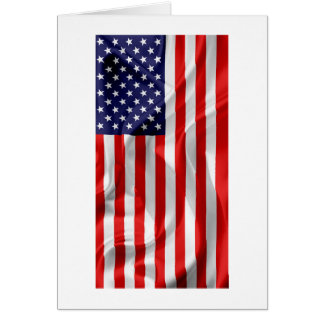 The Flag of the United States of America Card
