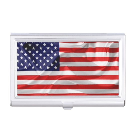 The Flag of the United States of America Case For Business Cards