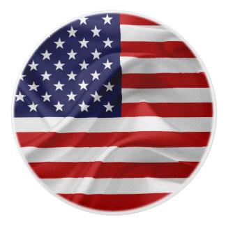 The Flag of the United States of America Ceramic Knob
