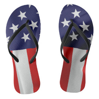 The Flag of the United States of America Flip Flops