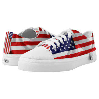 The Flag of the United States of America. Low-Top Sneakers