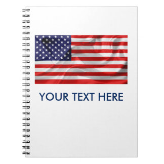 The Flag of the United States of America Notebook
