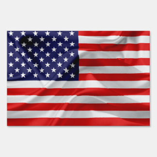 The Flag of the United States of America Sign