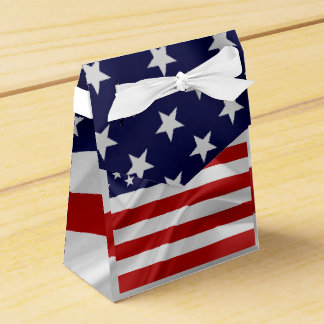 The Flag of the United States of America Wedding Favor Boxes