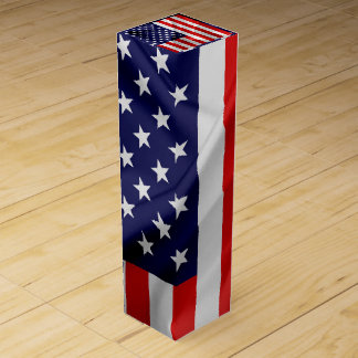 The Flag of the United States of America Wine Bottle Boxes