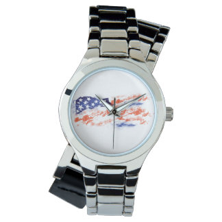 The Flag of Usa Wrist Watches
