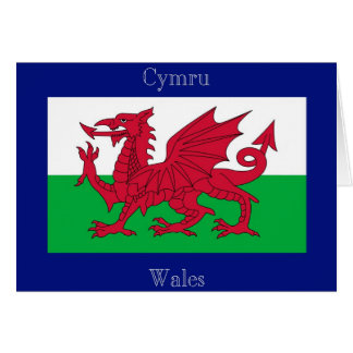 The Flag of Wales Card