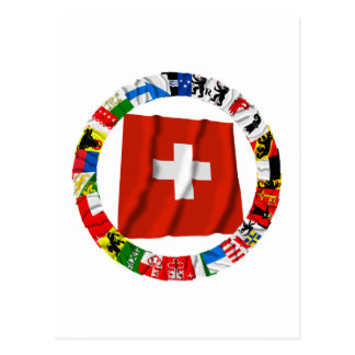 The Flags of the Cantons of Switzerland Post Cards