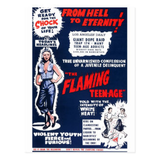 The Flaming Teen-Age Postcard
