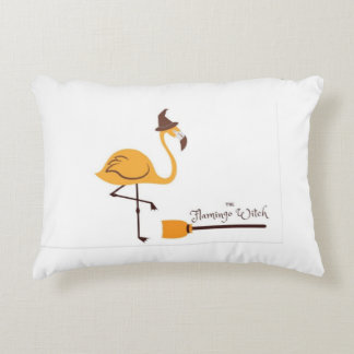 The flamingo witch blue pillow