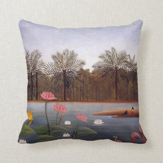 The Flamingos by Henri Rousseau Throw Pillow