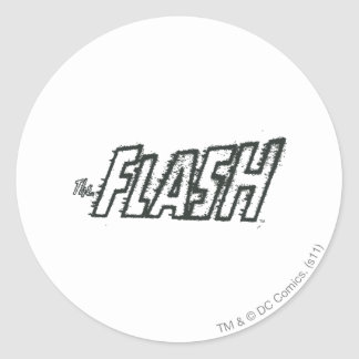 The Flash Letters Grunge Classic Round Sticker