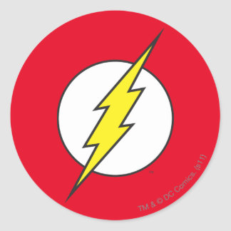 The Flash | Lightning Bolt Round Sticker