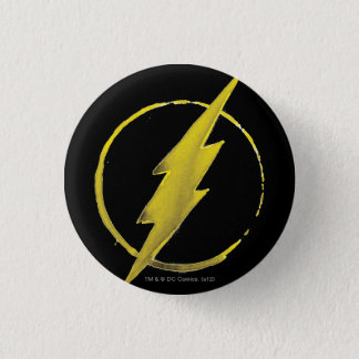 The Flash   Yellow Chest Emblem 1 Inch Round Button