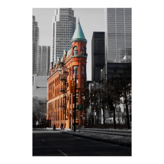 The Flatiron Building, Toronto. Poster