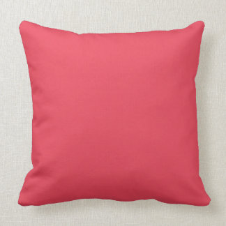 THE FLAVOR OF FRUIT: WATERMELON PINK (solid Throw Pillow