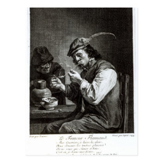 The Flemish Smoker Postcard