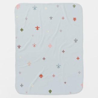 The Fleur-de-Lis - Vintage Pastel Colors Baby Blanket