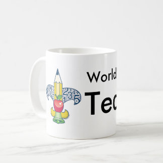 The Fleur-De-Teach World's Greatest Teacher Coffee Mug
