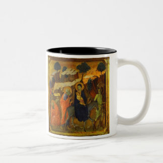 The Flight Into Egypt Sacred Christmas Two-Tone Mug