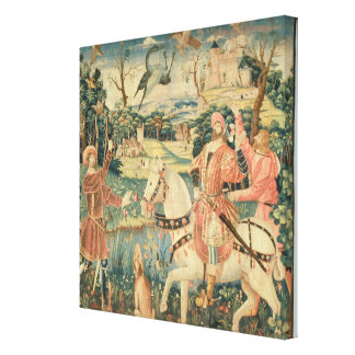 The Flight of the Heron, Franco-Flemish Canvas Print
