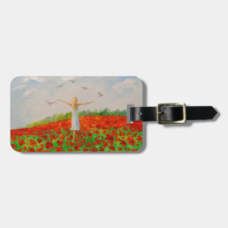 The flight of the soul luggage tag